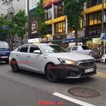 기아 K7 하이브리드 테스트카, 대낮 서울 한복판에서 포착