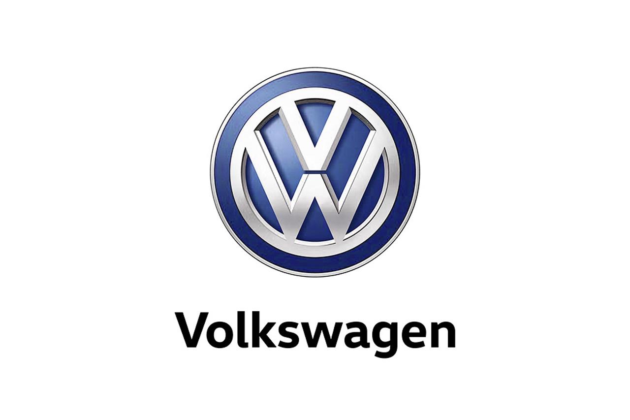 Volkswagen Logo mit Volkswagen-Schriftzug