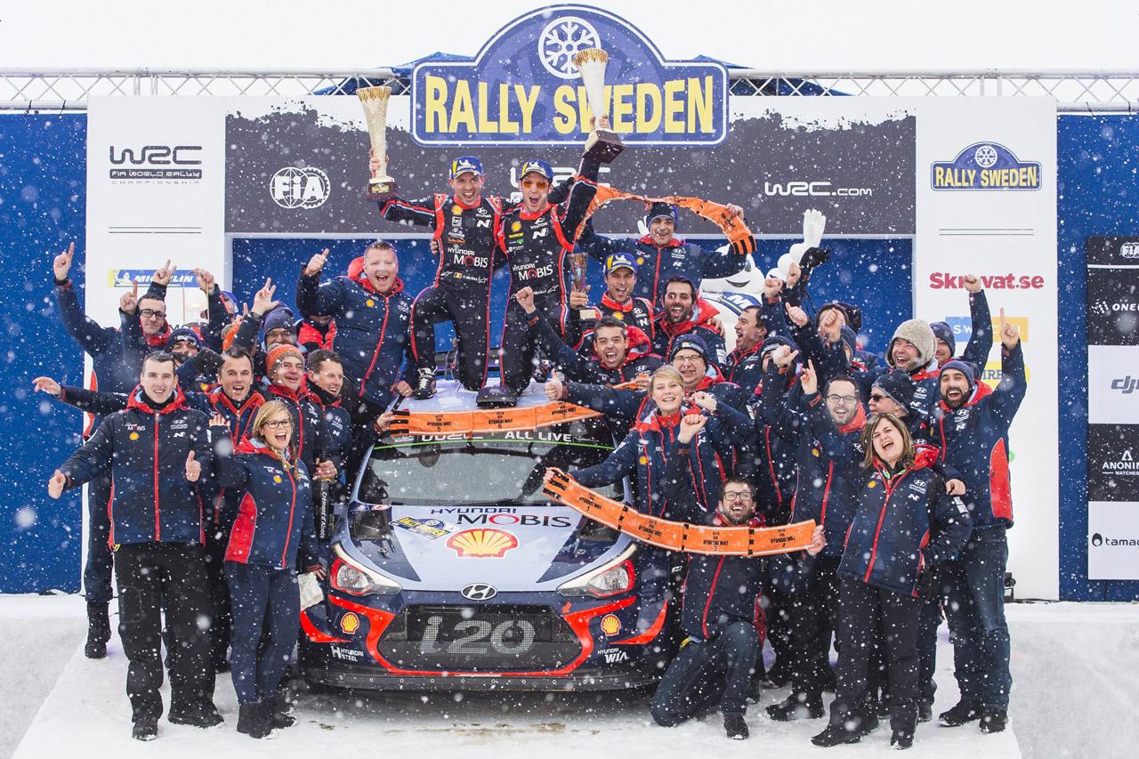 180219 (사진01) 현대차 2018 WRC 스웨덴랠리 우승