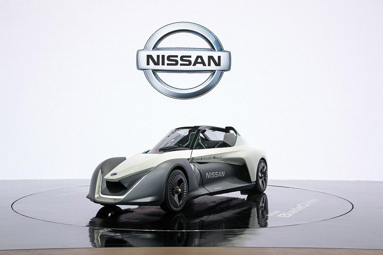 [사진자료] 2018 부산국제모터쇼, 닛산 부스 현장 사진 (4)_블레이드글라이더(BladeGlider)  컨셉트 전시 차량 이미...