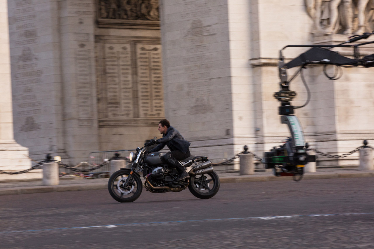 Tom Cruise on the set of MISSION: IMPOSSIBLE - FALLOUT from Paramount Pictures.