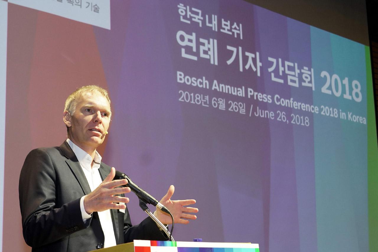 사진1-로버트보쉬코리아 대표이사, 한국 내 사업 활동 발표