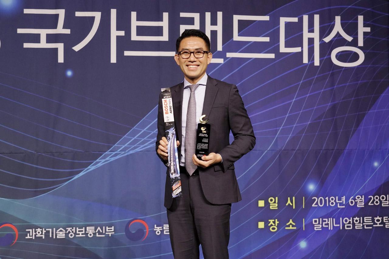 사진1-보쉬, '2018 국가브랜드대상' 자동차 부품 부문 보쉬 와이퍼 최고의 브랜드로 선정