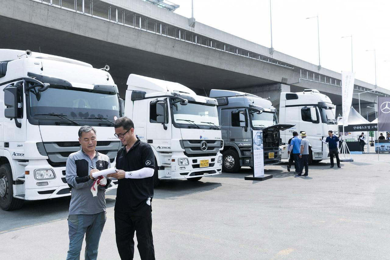 사진3-메르세데스-벤츠 트럭, 쿨 서비스 로드 혹서기 특별 서비스 행사 개최