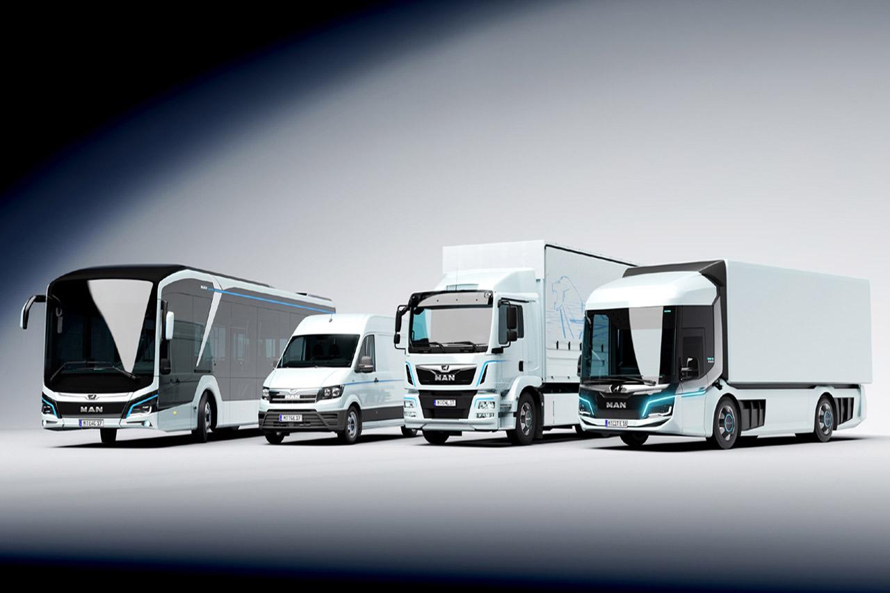 [사진 3] 만트럭버스가 IAA 2018에서 선보인 전기차 라인업