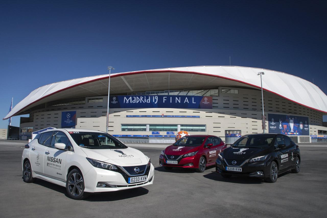 [사진자료] 닛산, 'UEFA 챔피언스리그 파이널' 개최지, 스페인 마드리드서 전동 모빌리티 실현 (1)