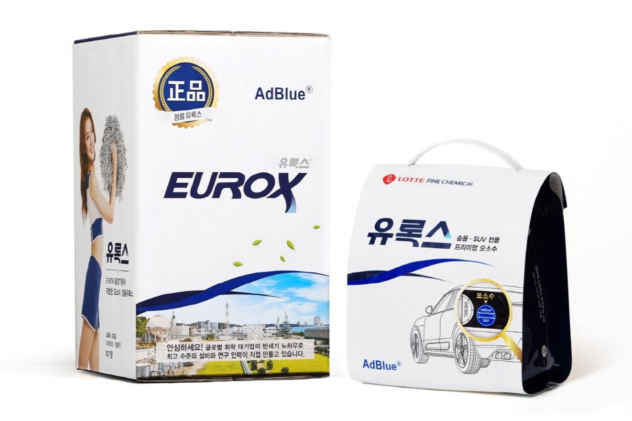 유록스 10ℓ 제품(좌)과 유록스 프리미엄 3.5ℓ 신제품(우)