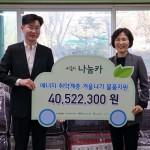 그린카, 서울시 나눔카 이용 적립금으로 취약계층 겨울나기 지원