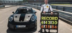 911 GT2 RS 뉘르부르크링 랩 타임 신기록 달성