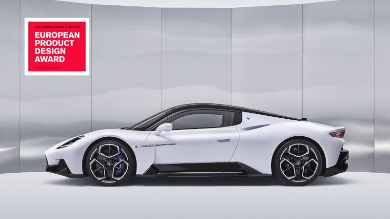[첨부이미지] 마세라티, 슈퍼 스포츠카 MC20 '2021 올해의 제품 디자인' 수상