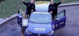 한국타이어 전기차 전용 타이어 장착한 폭스바겐 'ID.4 투어', 기네스 세계 신기록 수립